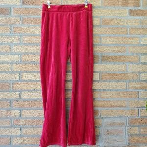 Hanes Red Velvet Stretchy Pants